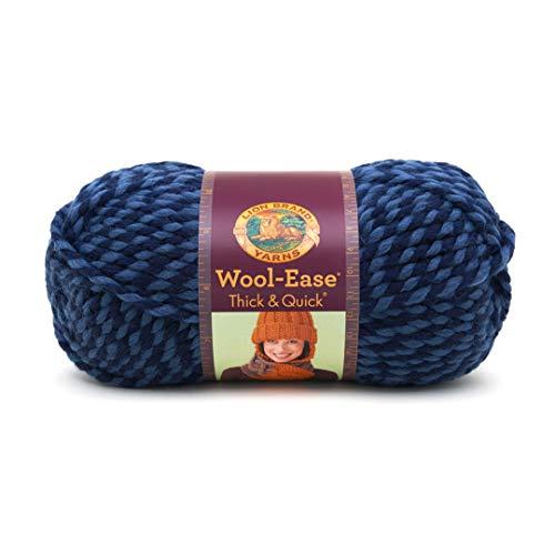 Lion Brand Denim Wool-Ease Thick & Quick Yarn (194) Twist
