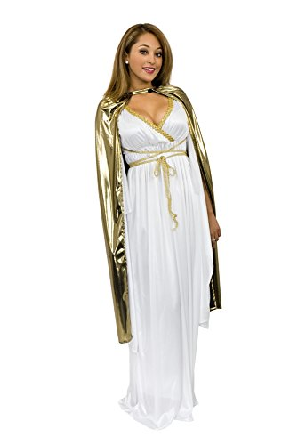 Charades Adult Shiny Lame 44-Inch Costume Cape, Gold