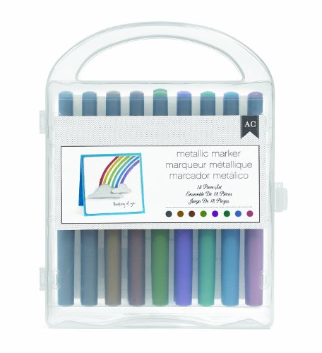 American Crafts 18/Pack Extreme Value Metallic Markers (American Metallic Crafts Marker)