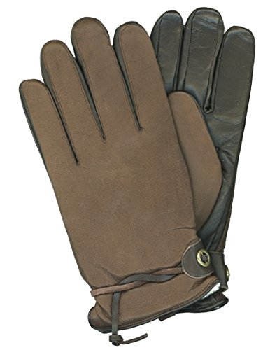 GRANDOE Men's CRAZY HORSE II Rugged Style Leather Glove (Brown, (Classic Shearling Gloves)