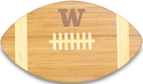 Washington Block - PICNIC TIME NCAA Washington Huskies Touchdown! Bamboo Cutting Board, 16-Inch