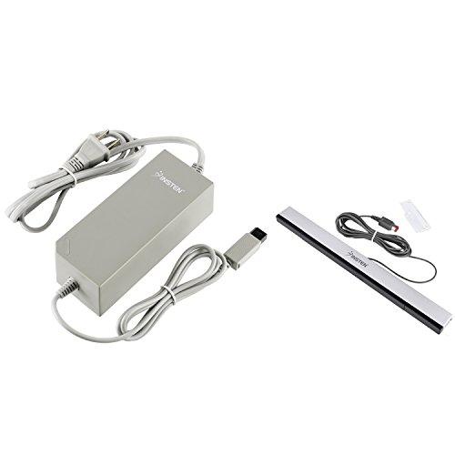 Insten Infrared Wired Sensor Bar + AC Power Adapter for Nintendo Wii