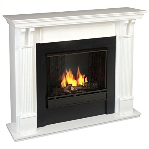 Real Flame Ashley Gel Fuel Fireplace in White Finish (Gel Fireplace Mantel compare prices)