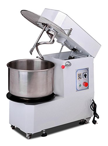Hakka Commercial Dough Mixers 20 Quart Stainless Steel 2 Speed Rising Spiral Mixers-HTD20B (220V/60Hz,3 Phase)