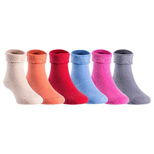 Lian LifeStyle Fantastic 3 or 6 Pairs Wool Socks Crew Size 0M-2Y HRL1801