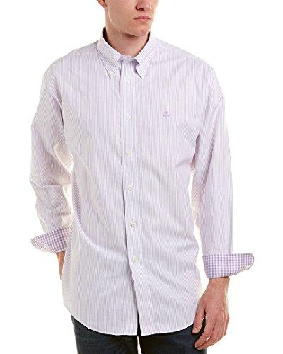 Brooks Brothers Mens 1818 Madison Fit Woven Shirt, L, (Brooks Mens Shirt)