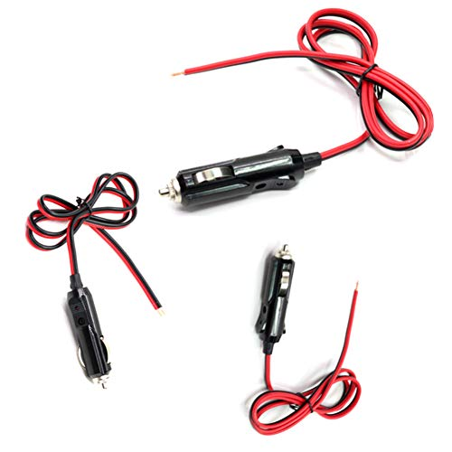 zzpopGG 12V24V 20A Universal Car Auto Cigarette Lighter Plug Power Extension Cord Cable