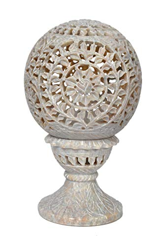 (Hashcart Traditional Tea Light Candle Holder/Soapstone Candle Light Holder Set/Designer Votive Candle Holder Stand/Table Decorative Candle Holders for Home Living Room & Office)