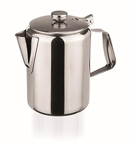 Cafetera de acero inoxidable de 1000 ml con tapa de bisagra ...