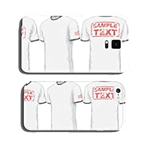 Front, back and side views of t-shirt. Vector cell phone cover case Samsung S6