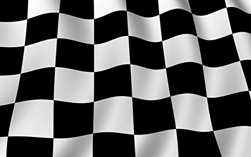 SoCal Flags® Brand Checkered Flag 3x5 Foot Polyester Black White Checkered Flag - Sold By a Proud American Company - High Quality Weather Resistant Durable - 100d Material Not See Thru