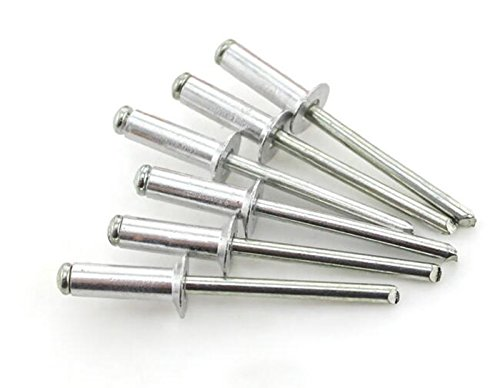 Grip Range: .188-.250 Rivet Series: 44 Finish: Plain Material Rivet Size: 1//8 QTY: 500 : Aluminum//Steel Rivet//Mandrel Blind//Breakstem Rivet, Length: .250 Head Style: Large Flange