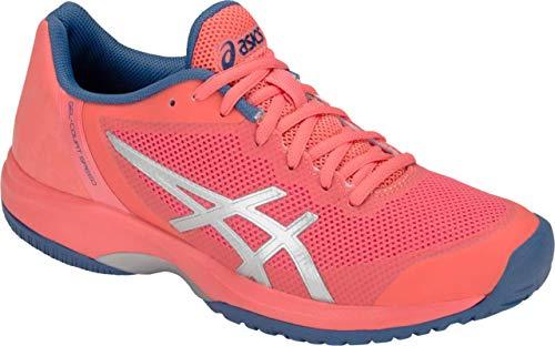 ASICS Gel Court Speed Women's Tennis Shoe, Papaya/Silver, 7 B US