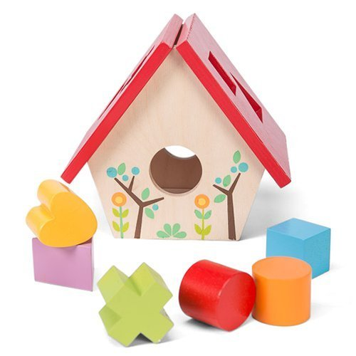 Bird House Shape Sorter (Le Toy Van : Petilou : My Little Bird House Shape Sorter by Le Toy Van)