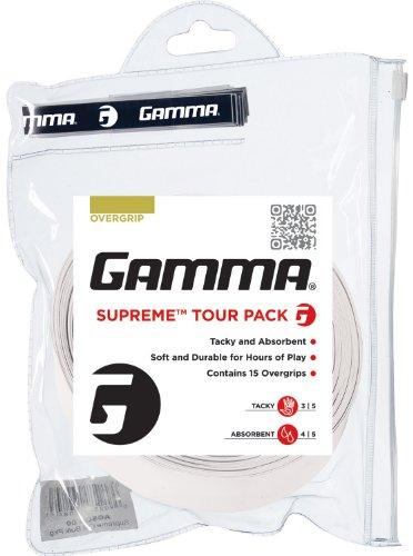 Gamma Supreme Overgrip Tour Pack, White (Pack Supreme)