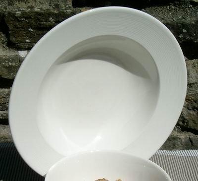 Fairmont & Main White Linen Pasta/Soup Bowls Pasta Bowl