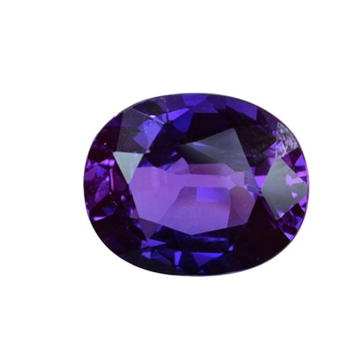 Purple-blue Lab Sapphire Oval Unset Loose Gemstone 14mm