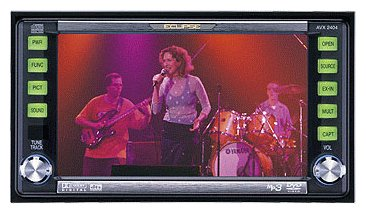 Eclipse AVX2404 5.8 Inch 2 DIN DVD / CD / MP3 Receiver with 6 Band EQ