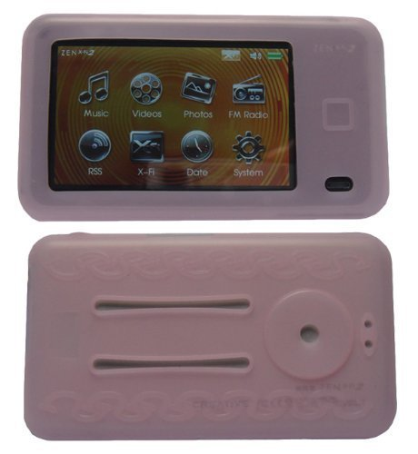 PINK Soft Silicone Skin Case For Creative Labs Zen X-fi 2 2nd Generation ()