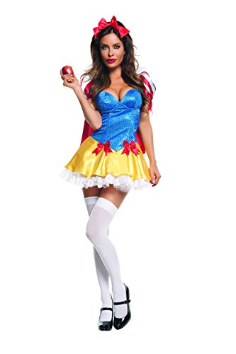 Starline Women's Sequin Snow White Costume Set, Blue/Red, Large