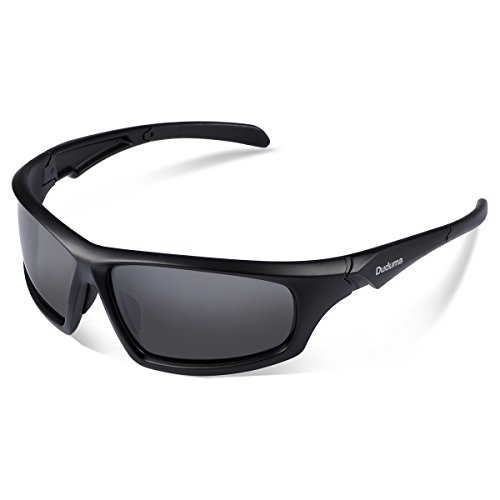 Duduma Tr601 Polarized Sports Sunglasses for Baseball Cycling Fishing Golf Superlight Frame (639 Black matte frame with black - Sunglasses Good