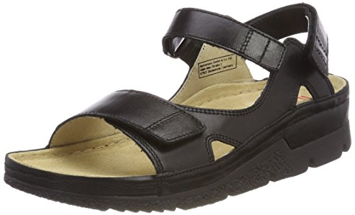 Black Women's Kimba Black Strap Sandals Ankle Berkemann 16qZP