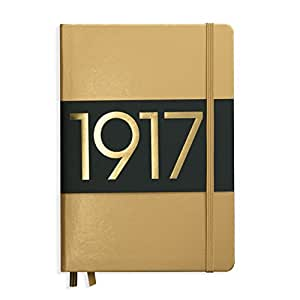 Leuchtturm1917 Medium Hardcover Notebook, 5.75 X 8.25 inches, 251 Dotted Pages, Gold (355676)