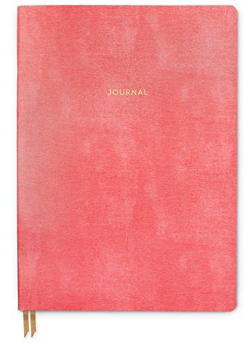 DesignWorks Ink Leather Bound Flex Journal, 7.13 x 10-Inches, Flamingo