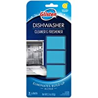Glisten DT0312T Dishwasher Cleaner & Freshener, 3 Tablets, Clear