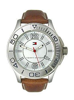 Tommy Hilfiger Three-Hand Brown Leather Men's watch #1790992