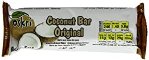 Oskri Coconut Bar, Original, Gluten Free, 1.9-Ounce Bars (Pack of 20)