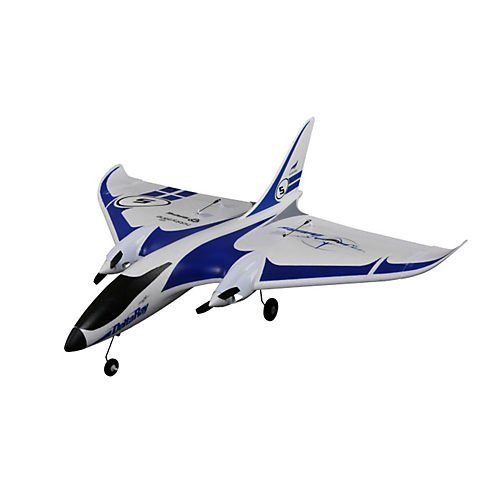 HobbyZone Delta Ray RC Airplane BNF (Transmitter Not Included) with SAFE Technology | 1300mAh 2S 7.4V 20C LiPo Battery | Charger (White/Blue), 863mm