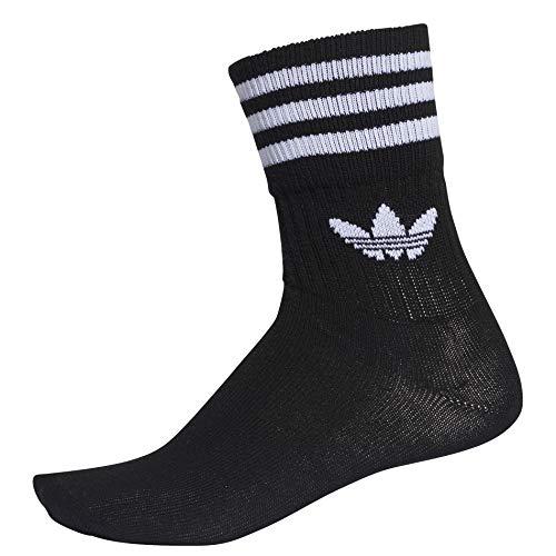 3 Adidas Mixte Mid Black white Cut Paires Chaussettes wqqznRT4