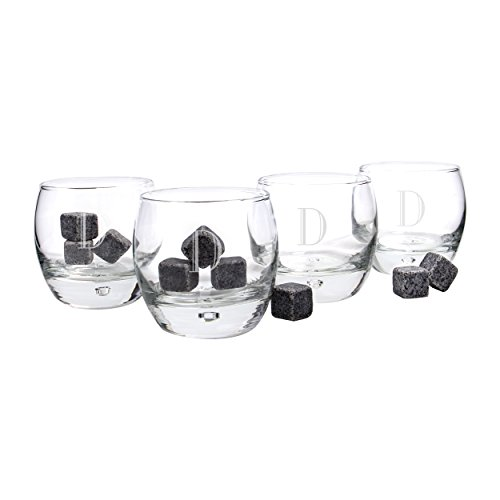 Personalized Whiskey Glasses Soapstones Letter product image