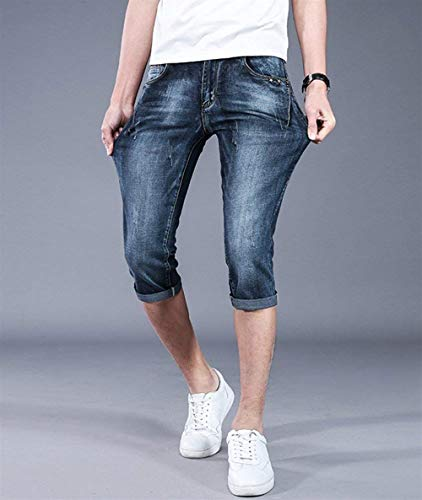 Bolawoo Skinny Da Fit Pantaloncini Denim Jeans Pantaloni Uomo Tiefesblau Slim rq7FPr