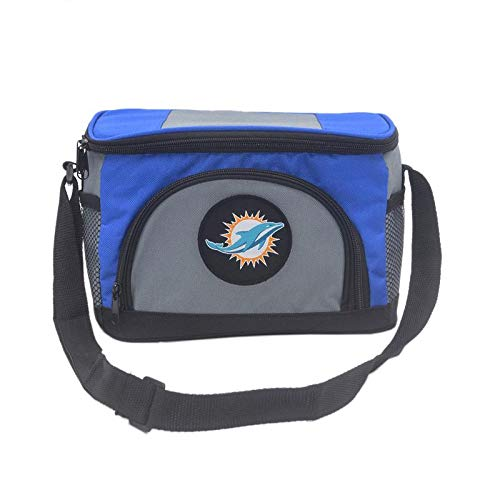 Unisex NFL Embroidered Insulated Lunch Bag Cooler - Pick Miami Dolphins ()