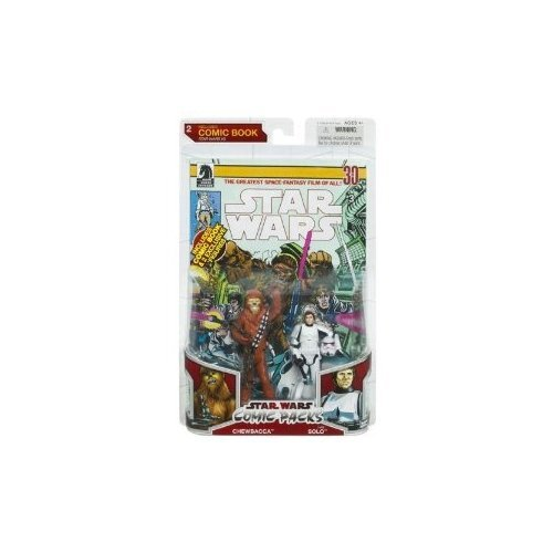 Star Wars 2009 Comic Book Action Figure 2-Pack Han Solo in Stormtrooper Armor and Chewbacca