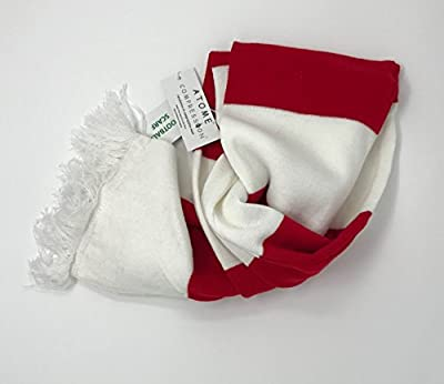Varsity Scarf Unisex with Double Layer Knit, & White Tassel