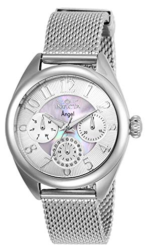 Invicta Women's Angel Quartz Watch with Stainless Steel Strap, Silver, 16 (Model: 27453)