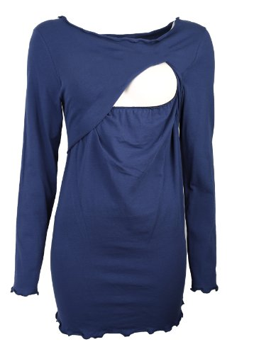 Be! Mama - Suéter de maternidad para mujer/maternidad Azul