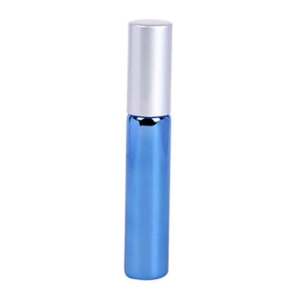 CapsA Glass Bottle Ball Perfume Bottle Refillable Empty 10ml Travel Mini Atomizer Spray Pump