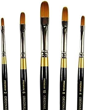 Premium Artist Brush KingArt Original Gold 9500 Series 9500-6 Golden TAKLON Filbert-Size: 6 6