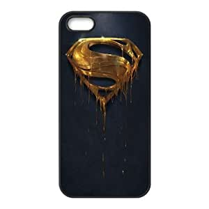 Gold Superman Logo iPhone 5 5s Cell Phone Case Black phone component RT_388458