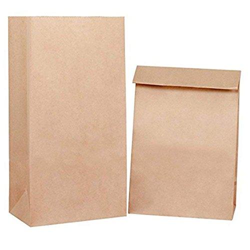 BagDream #4 5x2.95x9.45 100pcs Paper Lunch Bags Durable Brown Kraft Paper Bags, Snack Bags, Bread Bag, 100% Recycled Kraft Paper