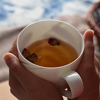 BXSBH-Por beber taza realmente libre de plomo de China de hueso hilo taza de cerámica taza de café taza de leche inicio cereales de desayuno: Amazon.es: ...