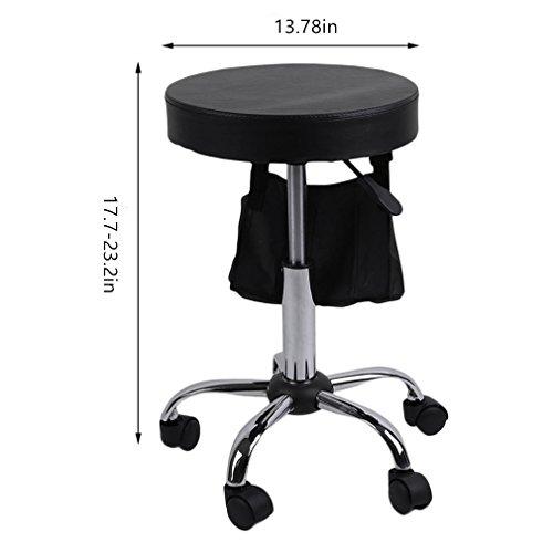 Beauty Salon Rolling Stool Tattoo Massage Facial Spa Adjustable Stool Chair by Graspwind (Image #6)