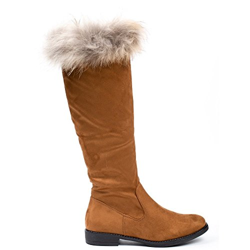 Damen Shoes amp; Ideal Stiefeletten Stiefel Camel 51fxwx