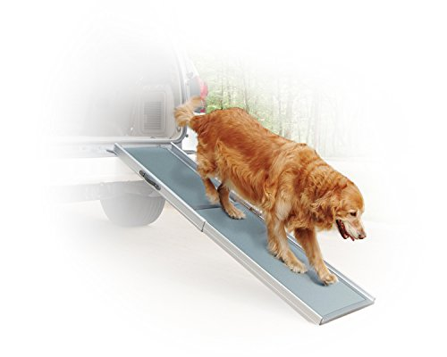 PetSafe Solvit Deluxe Telescoping Pet Ramp, Standard, 39 in. - 72 in., Portable Lightweight Aluminum ()