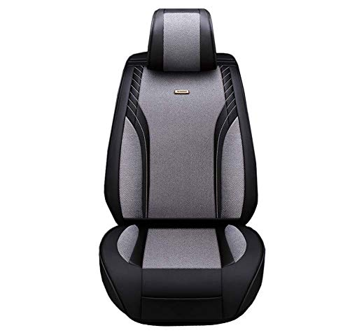 Car Seat Cushion for Leather Seats Very Thick & Durable Quality Backseat Cover, for 5 Seats Vehicle Suitable for Year Round Use,Gray: