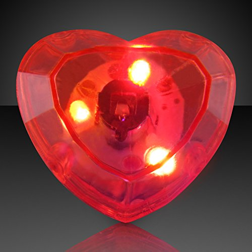 - Flashing Huge Heart Shaped Gem Light Up Ring